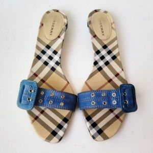 ~BURBERRY ~ITALY 🇮🇹 SANDALS AUTHENTIC, Size 38.5